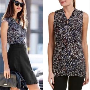 Cabi 3242 Bowie Osaka Nights Print Knotted Tee